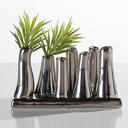 Amazon Torre Tagus 902034 Eva Multi Tube Vase Silver Home