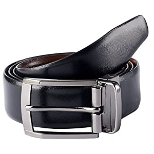 The Savile Row Company Mens Dress Leather Belt 35MM 1.38″ wide Black Brown Tan & Reversible