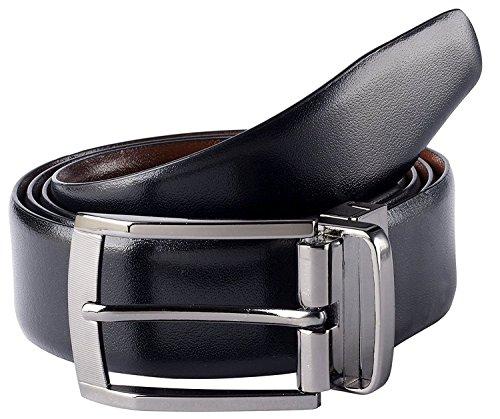 "Savile Row Men's Dress Belt 35MM 1.5"" wide Black Brown & Reversible"