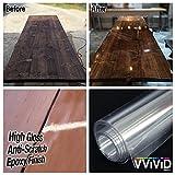 VViViD Clear High-Gloss Epoxy Vinyl Wrap Furniture Laminate Scratch-Resistant DIY Film (600'' x 60'')