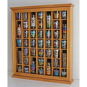 Amazon 41 Shot Glass Display Case Holder Cabinet Wall Rack