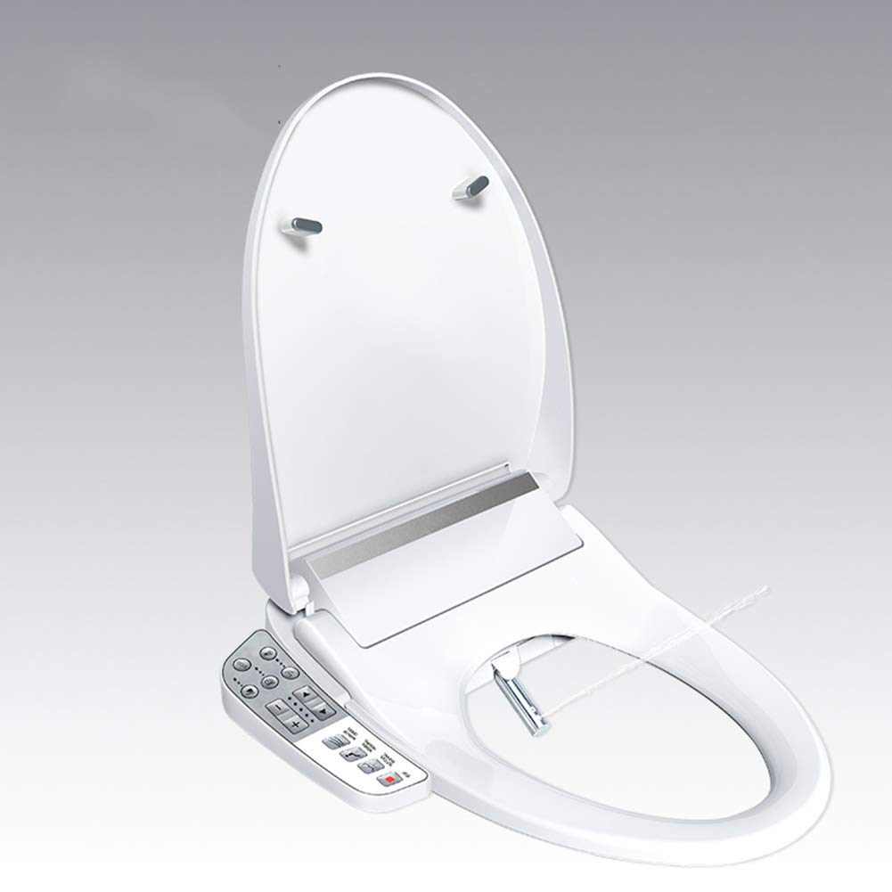 JENYS JS300 Elongated Bidet Seat with Side Key Panel|Air Warm Dryer|Stainless-Steel Nozzle|Nightlight|Nozzle Oscillation|Adjustable Heated Seat and Water|UL Certified Plug