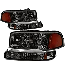 GMC Sierra/Yukon GMT800 Headlight+Bumper Light Assembly Kit (Smoke Lens Amber Reflector)
