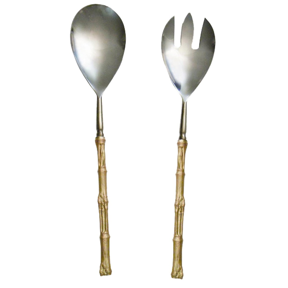 ''Bamboo Serving Utensils'' (Set of 2) by Michael Michaud for Silver Seasons Table Art