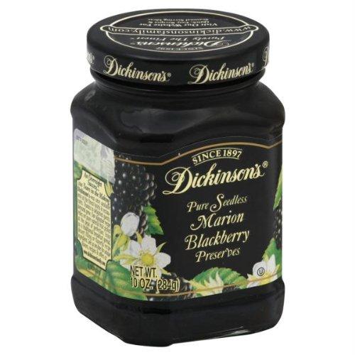 Dickinson's Pure Seedless Marion Blackberry Preserves --  One 10 oz Jar