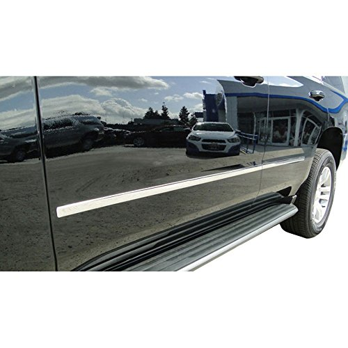2015-2017 Chevy Suburban Chrome Factory Style Body Side Molding (4 PC) ()