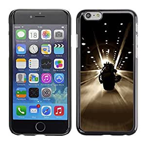 LECELL--Funda protectora / Cubierta / Piel For iPhone 6 -- BAT SUPERHERO BIKE --