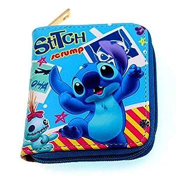 Kawaii Cartoon Stitch Lilo Mini Carteras con Cremallera ...