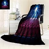 Microfiber All Season Blanket/Flannel Fleece Blanket/Luxury Blanket/Heavy Warm Blanket-Wrinkle and Fade Resistant Hypoallergenic Fleece Blanket-60'' x 36''(Movie Theater with empty seats and projector)