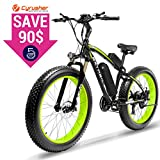 Cyrusher Fat Tire Bike Snow Bike Mountain Bike with Motor 500W/1000W 48V Lithium Battery Extrbici XF660 4.0 inch Fat Tire s New Adjustable Handlebar