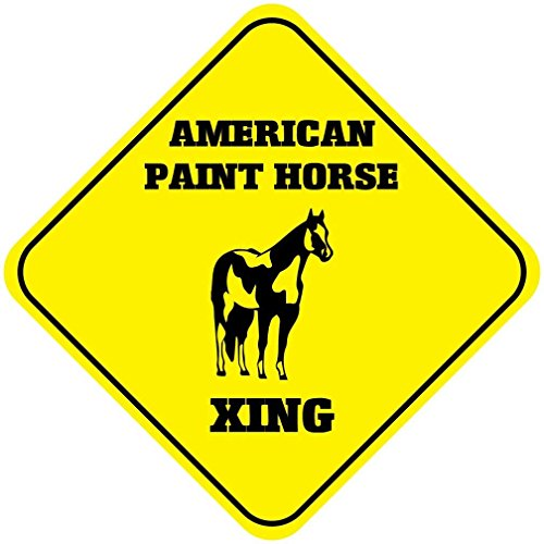Iliogine Funny Metal Signs American Paint Horse Crossing Garage Home Yard Fence Aluminum Plaque Wall Art