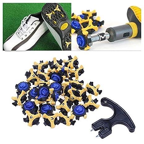 9de37d488c5 Image Unavailable. Image not available for. Color  J T Jordan Golf Sports Shoe  Spikes Replacement Champ Stinger ...