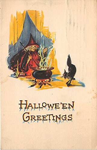 Published By Gibson Art Company Halloween Postcard Old Vintage Post Card from Old Postcards