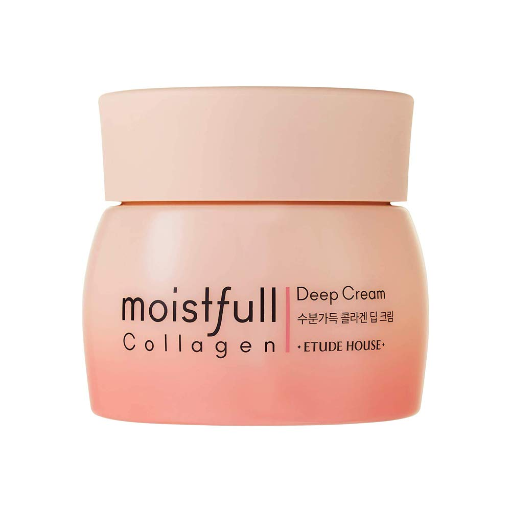 ETUDE HOUSE Moistfull Collagen Deep Cream 75ml (Renewal) - Skin Care Facial Moisturizing Cream - Anti-Aging Wrinkle-Repair for Women