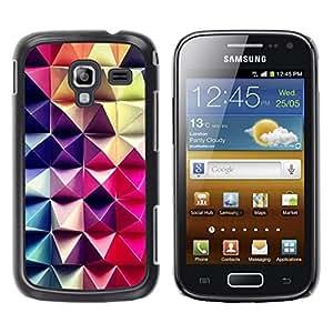 Be Good Phone Accessory // Dura Cáscara cubierta Protectora Caso Carcasa Funda de Protección para Samsung Galaxy Ace 2 I8160 Ace II X S7560M // 3D Art Purple Pink Checkered Pattern