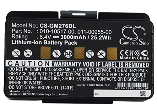 VINTRONS 3000mAh Replacement Battery For GARMIN 010-00543-00, GPSMAP 478