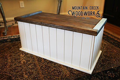 Pine Storage Chest - Mountain Creek Woodworks Tucker Chest - Rustic White Georgia Pine Storage/Toy/Hope Chest/Trunk