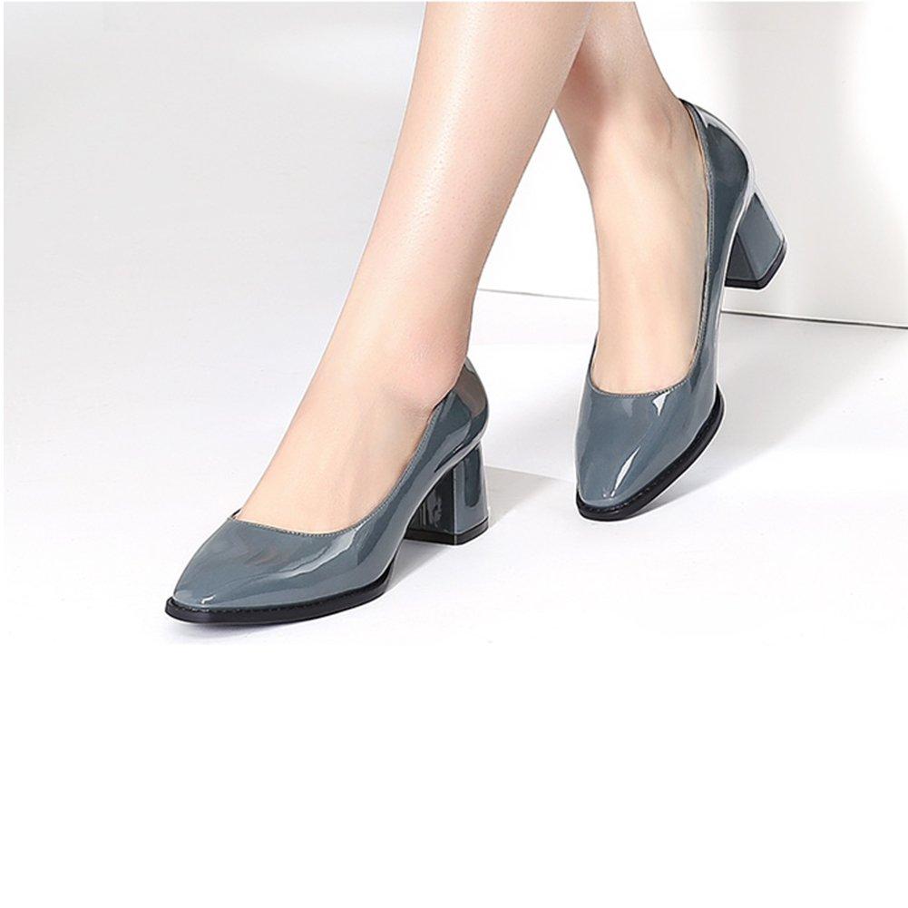 XUERUI Neuer Flacher Mund des Frühlinges mit weiblichen weiblichen weiblichen Schuhen Einer einzelnen Schuhquadratischen hohen Absätze Pumps (größe   EU36 UK3.5 CN35) 9a41a5