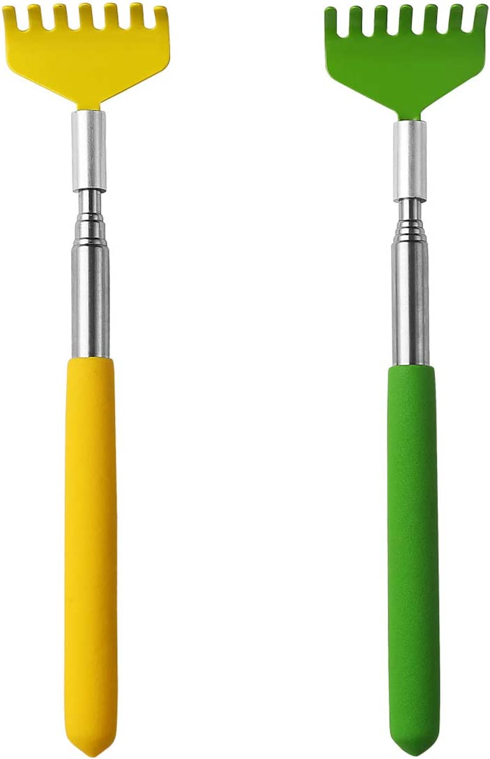 Mini Zen Sand rakes Tool Decoration Garden Sand rake feng Shui Decoration for Home Office 2 Pcs(Yellow and Green)