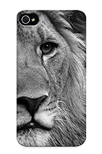 New Black And White Animals Monochrome Lions Tpu Case Cover, Anti-scratch Vufdci-1259-WWkWL Phone Case For Iphone 4/4s With Design