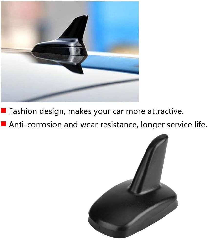 Duokon Car Shark Fin Exterior Roof Antenna Decoration for AUDI A3 2016-2018 3897ZIY Black
