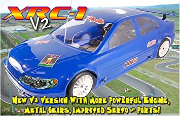XRC RC-1 V2 1/5th Scale Petrol RC Car - Clear Shell: Amazon co uk