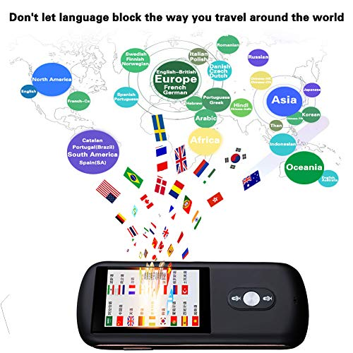 Smart Voice Language Translator Device,Real-time Two-Way Foreign Speech/Text WiFi&4G 2.4 inch IPS Touch Screen Support 38 Languages for Learning Travel Business Shopping English Spanish Etc(Black) by Da Xian (Image #4)