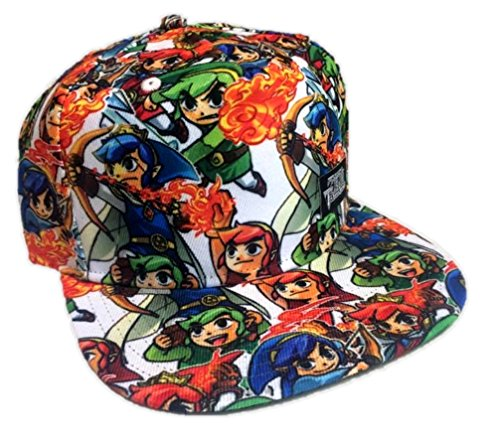 The Legend Of Zelda Triforce Heroes Costumes (Legend of Zelda Tri-Force Hero Sublimated Snapback Baseball Hat Adjustable Cap)