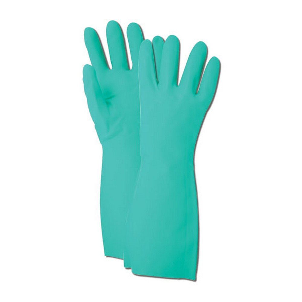 Magid Glove & Safety RS1910 Comfort Flex RS19 22 Mil Unlined Diamond Grip Nitrile Gloves, Size 10, Green (Pack of 12) by Magid Glove & Safety