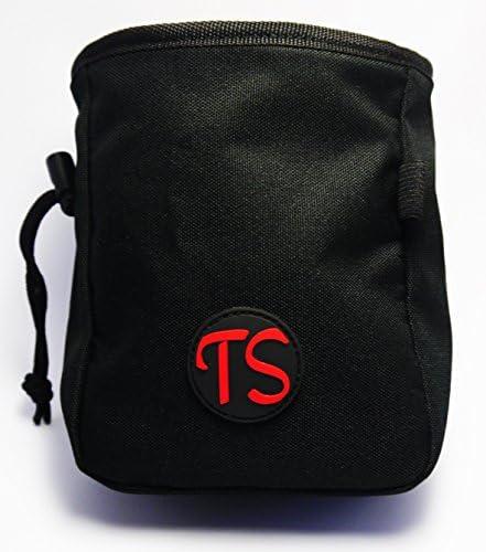 ThisSak Bolsa de magnesio Negra con cinto Ajustable a la Cintura Escalada