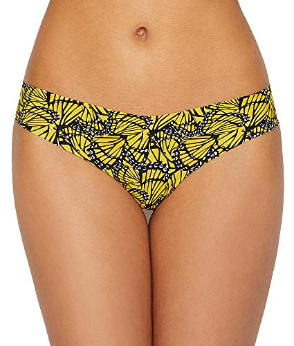 - commando Printed Thong, M/L, Yellow Butterfly