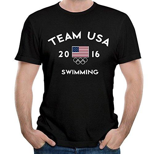 Mens Team USA Swimming Rio 2016 Olympic Short Slev Tee Tshirt