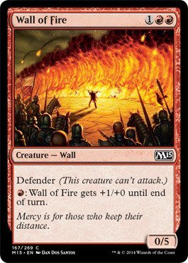 Magic: The Gathering - x4 Wall of Fire - M15