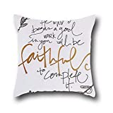 Robert Beautifulsquare Throw Pillow Case Custom Indian Elephant Cushion Cover Cotton Polyester Christian Bible Verse Bedding Fashion Home Decorative Pillowcase Gift 20*20