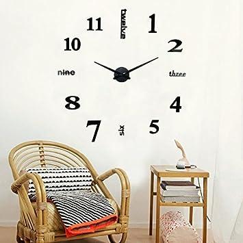 Horloge Murale Grande 3d Moon Mood Pendule Murale Design Diy