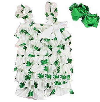 St Patricks Day Romper Small Green