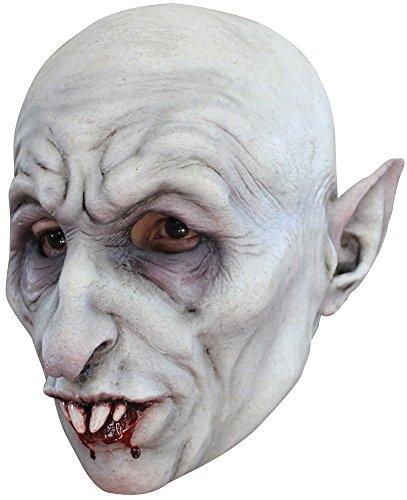 DISC0UNTST0RE Nosferatu Adult Latex Mask Halloween Costume - Most Adults -