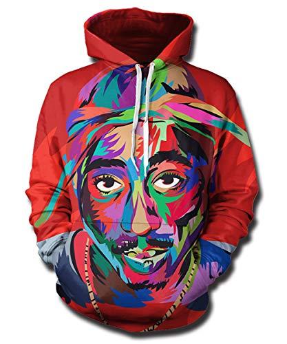 Blood Red Tupac Shakur Hoodie