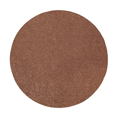 Bright House Solid Color Brown 15'x15' Round - Area - Brown 15 Round And