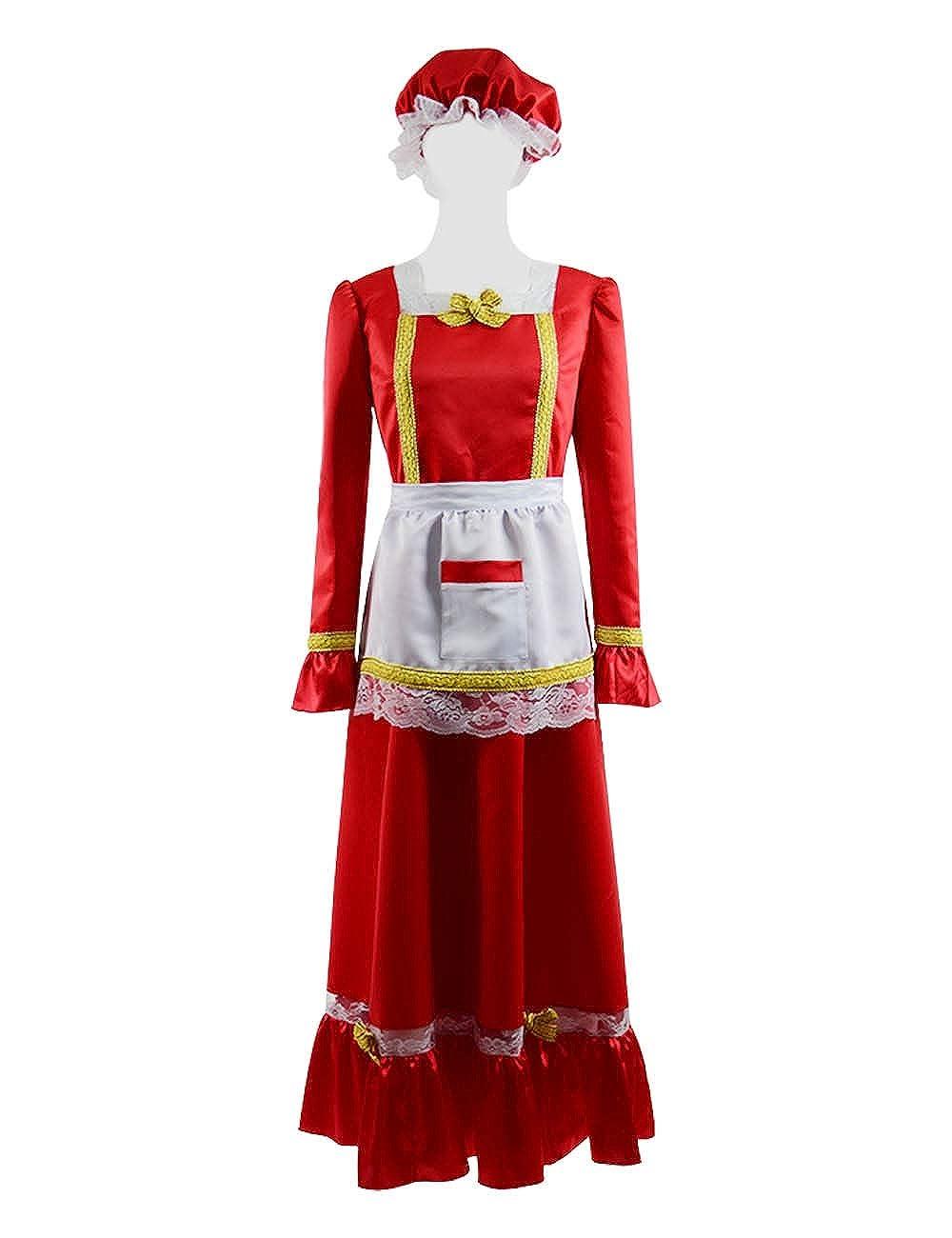 Yewei Damen Weihnachten Christmas Santa Claus Rot Kostüm Cosplay Dress Kleid Kostüm Set B07L6WH88X Kostüme für Erwachsene Ab dem neuesten Modell    | Verschiedene Stile
