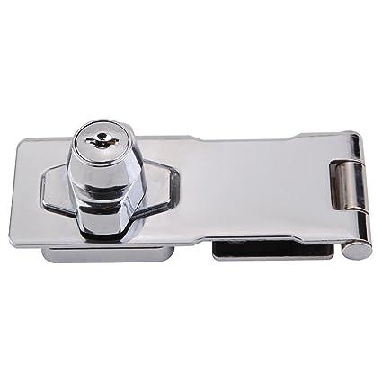 Cerradura de seguridad para armario con cerradura de acero inoxidable con tornillos para muebles, armarios