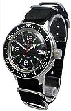 Amphibia 200m VOSTOK Automatic Mechanical Watch with Custom Bezel! New! 2416/420640 (Black)