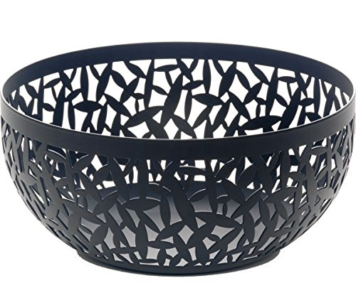 """Alessi MSA04/21 B""""CACTUS!"""" Fruit Holder in Steel Coloured With Epoxy Resin, Black"""