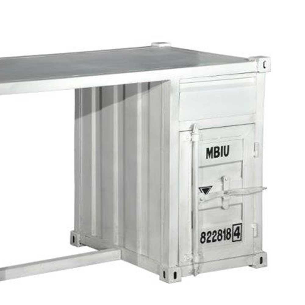 Schreibtisch industriedesign  Metall Schreibtisch in Weiß Industriedesign Pharao24: Amazon.de ...