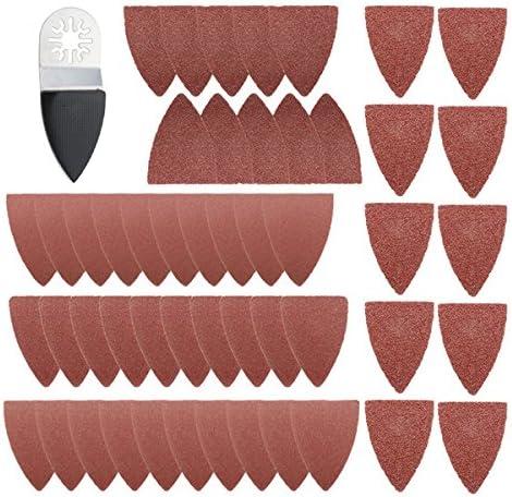 Queenwind 51pcs の指のサンディングシートのパッドはファインマルチマスタボッシュの振動右腕のためにセットしました