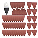Pukido 51pcs Finger Sanding Sheets Pads Paper Set For Fein Multimaster Bosch Oscillating Multitool