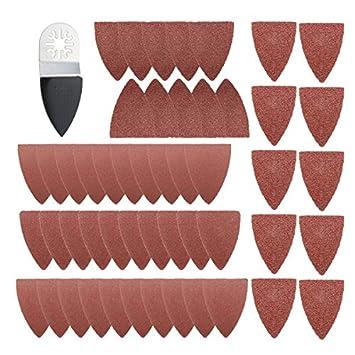 42x Finger Schleifblätter Pads Papier Set Für Fein Oszillierende Multitool