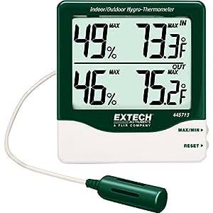 Extech 445713 Big Digit Indoor/Outdoor Hygro-Thermometer