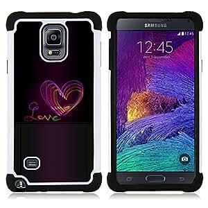For Samsung Galaxy Note 4 SM-N910 N910 - heart purple black text Dual Layer caso de Shell HUELGA Impacto pata de cabra con im??genes gr??ficas Steam - Funny Shop -