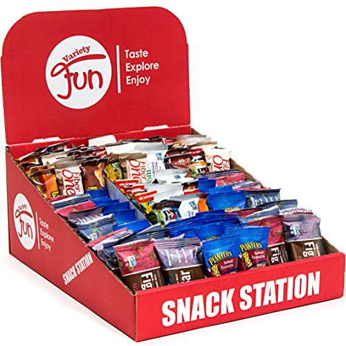 Ultimate Healthy Office Bars & Snacks Bulk Variety Pack, Includes Display Box (Office Station 150 Count)